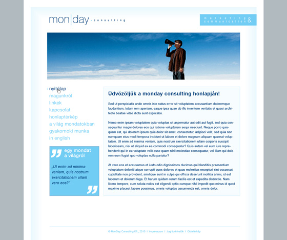 MonDay Consulting web site